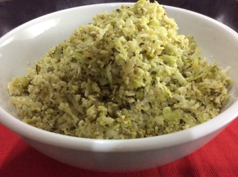 "Broccoli and Cauliflower ""Rice"""