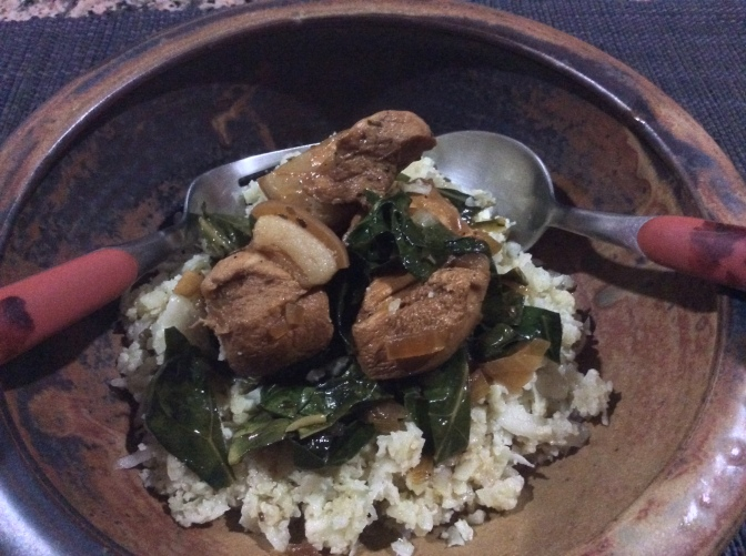 Primed Chicken and Pork Adobo with Added Greens