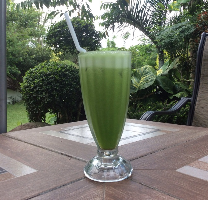 Kale and Pineapple Smoothie At Nurture Wellness Village in Tagaytay