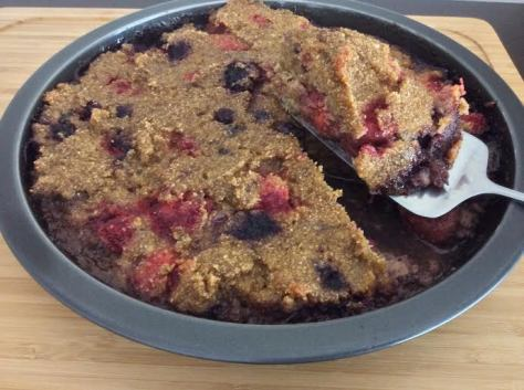 Banana Berry Cake