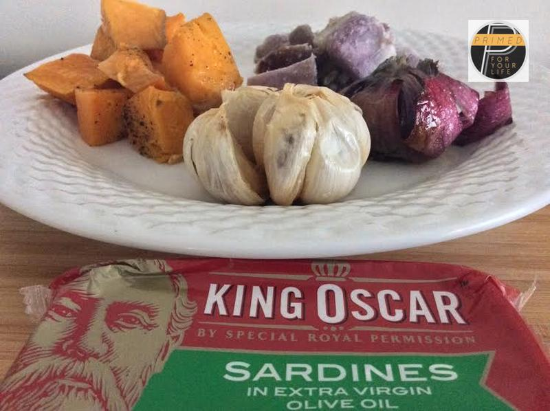 Primed Sardines with Roasted Vegetables