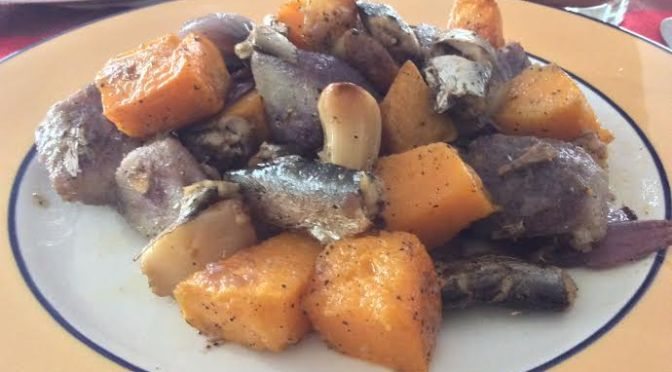 Primed Sardines in Olive Oil with Roasted Vegetables