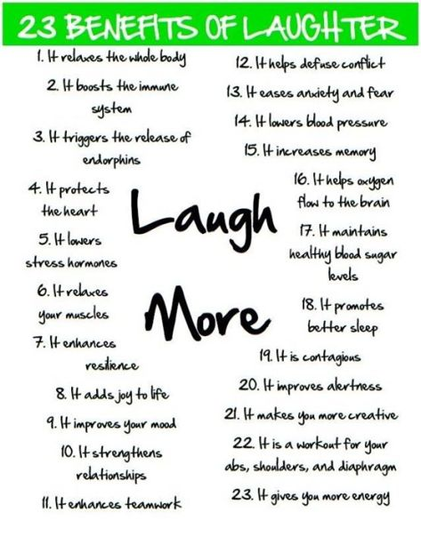 Laughter rocks