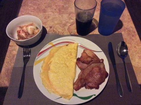 Travelling Primed breakfast