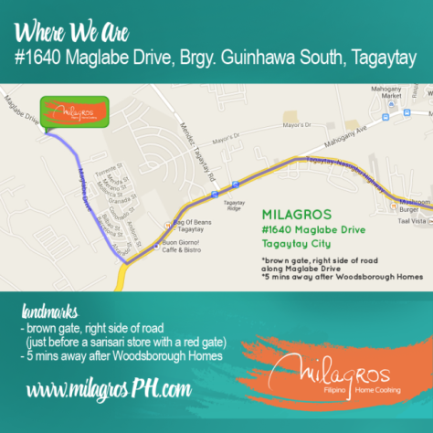 Milagros directions