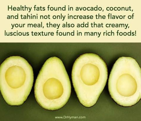 Avocado great saturated fat