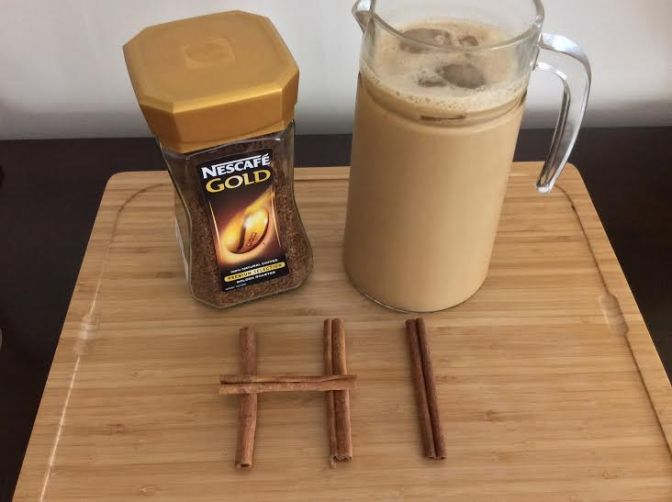 Primed Cinnamon Iced Coffee with Coconut Milk
