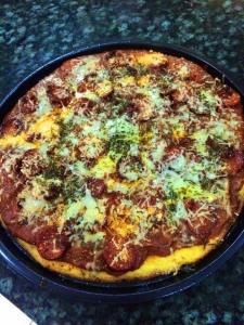 Chin Primed pizza