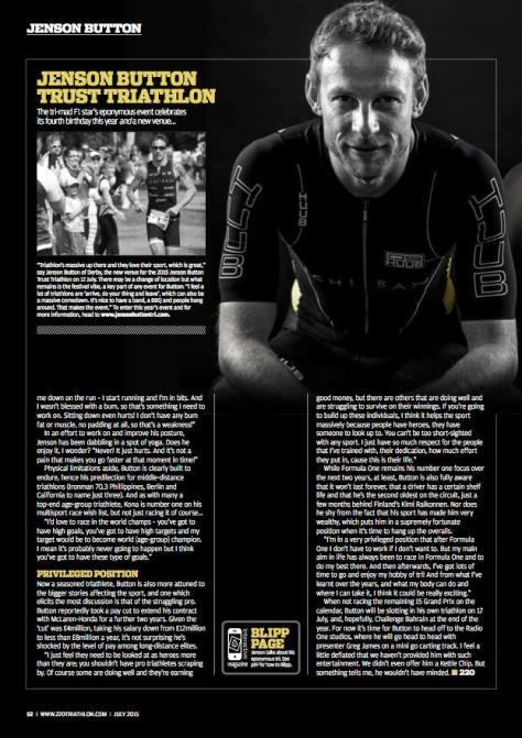 Jensen Button Trust Triathlon