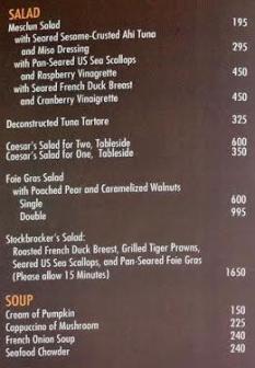 Myron's Salad and soup