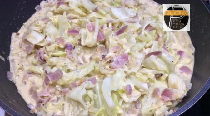 Great carbohydrates Monday – Primed Coconut Cream Cabbage with Mustard and Chili