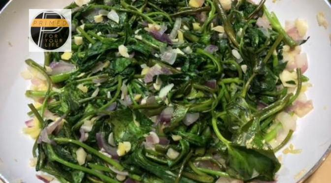 Great Carbohydrates Tuesday: Green Vegetables with Onion, Garlic and Ginger