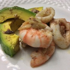 Bagna Caude Seafood with Avocado