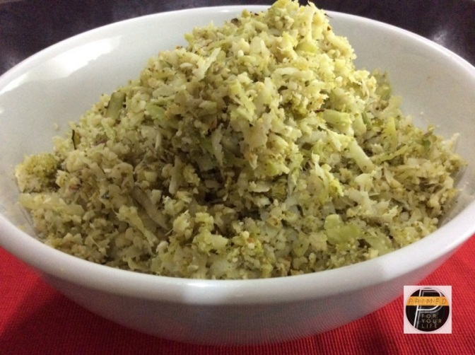 "Great Carbohydrates Sunday – Broccoli and Cauliflower ""Rice"""