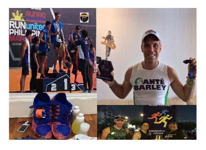 Podium at Run United Philippine Marathon with the Primed Lifestyle