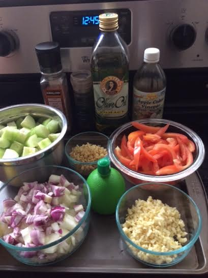 Vegetable Kinilaw Ingredients