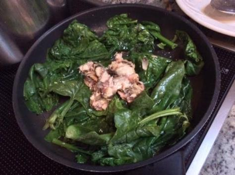 Warm Spinach and Sardine Salad2