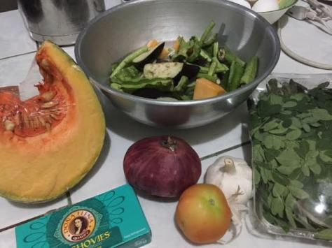 Pinakbet ingredients