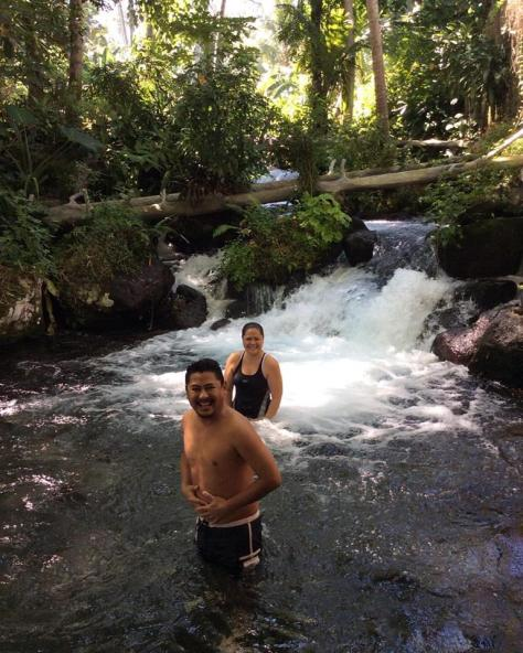 Iligan Waterfalls rock