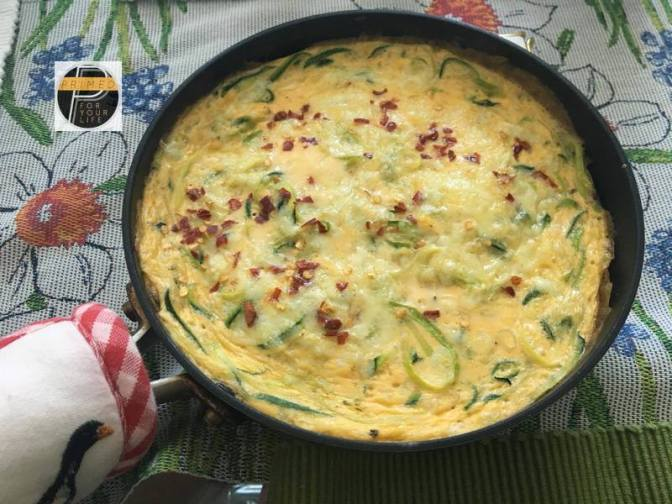 Primed Joan's Super Zoodle Frittata
