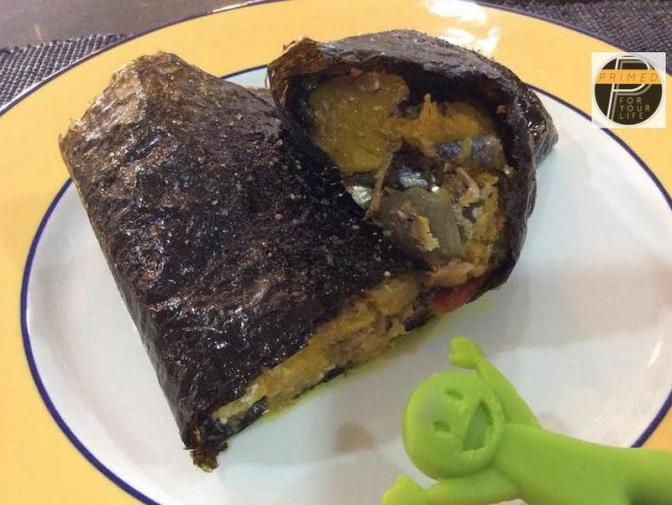 Primed Super-sized Sardine & Squash Oven-baked Nori Roll