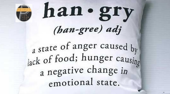 Being Hangry is a Bad, Bad Sign