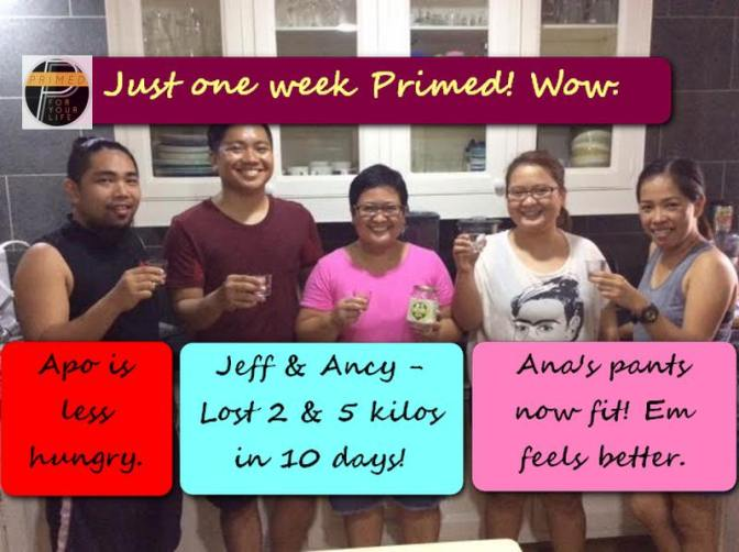 Wowie, wow & wowie! After just 1 week since our Primed seminar. Ancy lost 5 kilos already. Whole team is THRIVING.