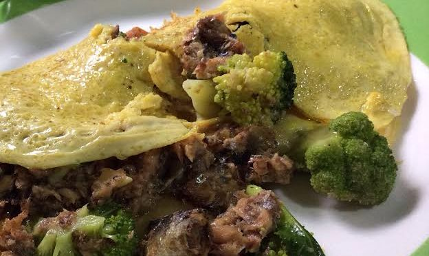 Primed Omelette of Broccoli and Sardines