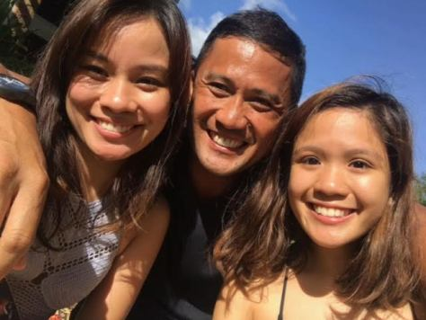 Ferdie with daughters