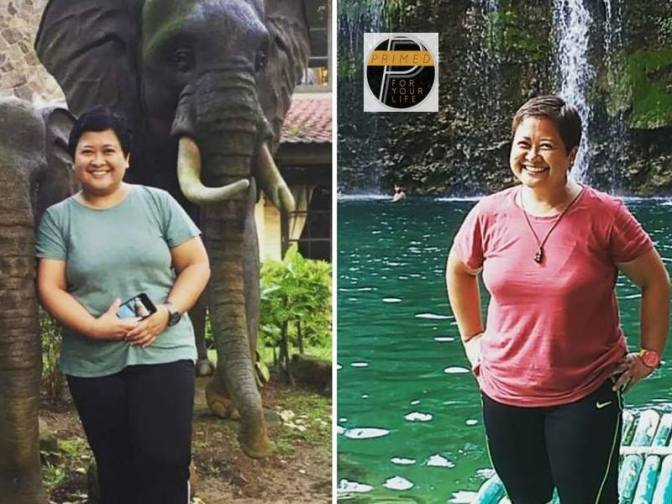 Ancy Palma lost 19 kilos (42 pounds) with no structured exercise. Ancy has more energy and gratitude. All kidney issues DISAPPEARED. Yippie.