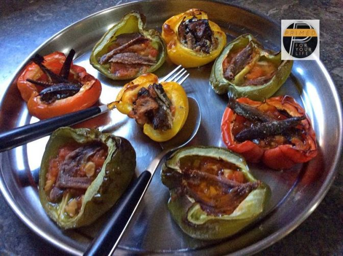 Recipe of Trio of Fish Capsicum Cups