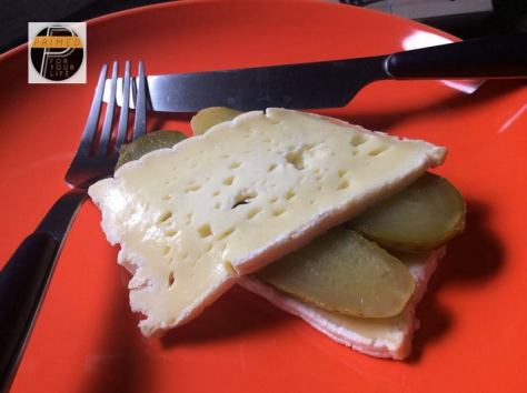 Cheese and pickle sandwich2