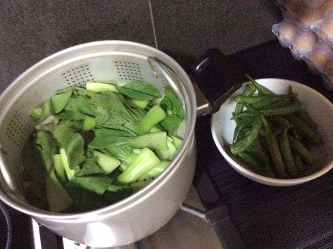 Steamed Bagna Caude dish bok choy