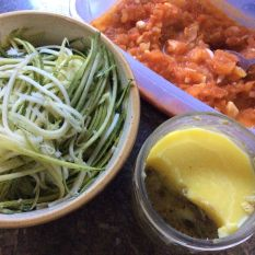 Zudles with Tomato & BCSceingredients