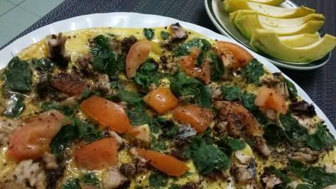 Romy Gacad open omelette