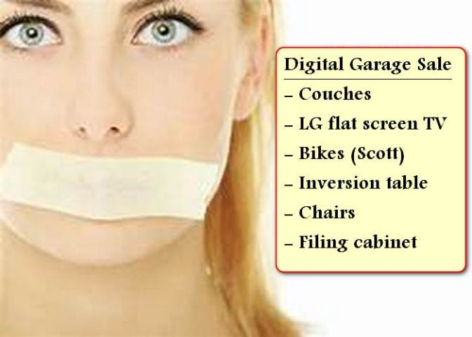 Digital Garage Sale of Quality Furniture etc.