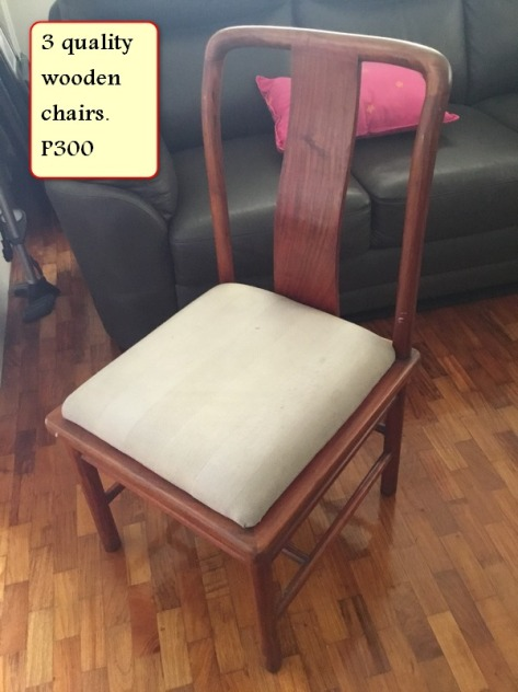 Sale 9 quality wooden chairs