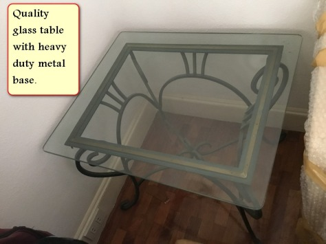 Sale quality glass table with metal frame - Copy