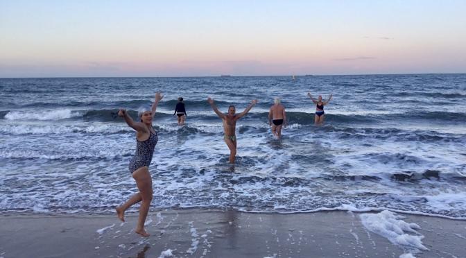 Big fun at the beach. #coldwatercoach